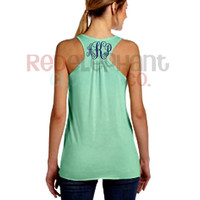 SALE Monogrammed Bridesmaid Tank Top, Monogrammed Tank Top for Adults, Personalized Racerback Tank Top, Ladies, Workout, Coral, Mint