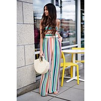 Colors Of The Wind Jumpsuit (Peach/Mint Multi)