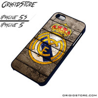 Real Madrid Wooden Case For Iphone 5/5S Case