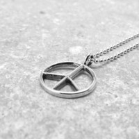 Peace Necklace, Sterling Silver