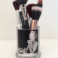 Marilyn Monroe inspired makeup brush holder