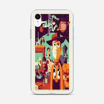 Toys Story Woody Film Art Disney Poster iPhone XR Case
