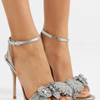 Sophia Webster - Lilico embellished lamé sandals
