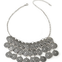 FOREVER 21 Layered Coin Necklace Burn.S One