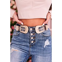 You Fascinate Me Double Buckle Belt (Clear)