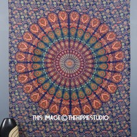 Indian Mandala Tapestries, Hippie Wall Tapestries, Bohemian Bed Spread, Tapestry Wall Hanging, Boho Tapestry Throw, Tapestries for Dorms, College Tapestries, Wall Art (60 X 90 Inches)