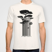 Barcode Trees illustration  T-shirt by Jane Hazlewood