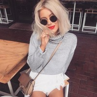 Twisted Pullover Knit Tops Sweater [37753028634]