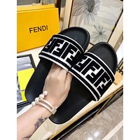 FENDI Woman Men Fashion Slipper Sandals Flats Shoes
