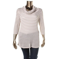 INC Womens Plus Knit Long Sleeves Pullover Top
