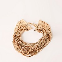 Missguided - layered multi chain choker necklace gold
