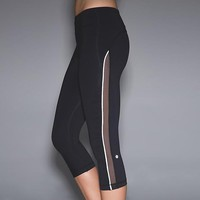 Lululemon Fashion Gauze Zipper Sport Gym Yoga Tight Pants Trousers Sweatpants