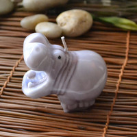 I Want a Hippopotamus for Christmas Hippo by GlowliteCandles