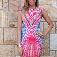 RISE OF DAWN RISQUE DRESS , DRESSES, TOPS, BOTTOMS, JACKETS & JUMPERS, ACCESSORIES, $10 SPRING SALE, PRE ORDER, NEW ARRIVALS, PLAYSUIT, GIFT VOUCHER, $30 AND UNDER SALE,,Print Australia, Queensland, Brisbane