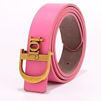 Dior Fashion New Product Letter Gold Buckle Temperament Belt-2