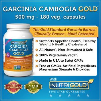 #1 Garcinia Cambogia Extract - Garcinia Cambogia GOLD - 500 mg, 180 Veggie Capsules (Featuring Clinically-Proven, Multi-Patented 60% HCA Extract for Weight-Loss) 1,500 mg per Serving | deviazon.com