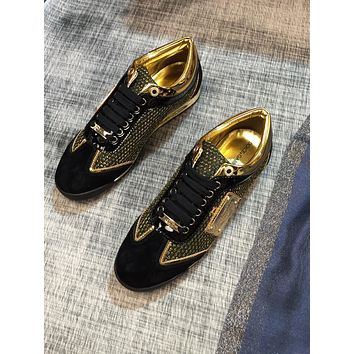 DG   Men Fashion Boots fashionable Casual leather Breathable Sneakers Running Shoes