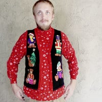 Humping Teddy Bear Tacky Ugly Christmas Sweater Vest