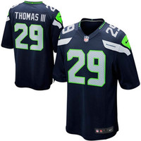 Youth Seattle Seahawks Earl Thomas Nike College Navy Team Color Game Jersey