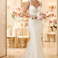Vestido de noiva sereia 2016 Sexy Open Back Mermaid Wedding Dresses Vintage Lace Vestido casamento Bride Dresses Chapel Train