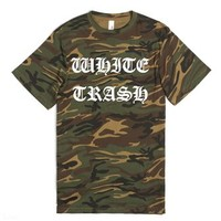 White Trash-Unisex Green T-Shirt