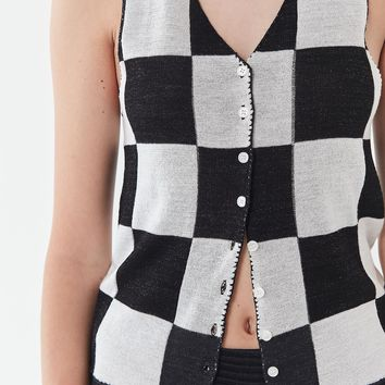 UO Talia Checkered Tank Top | Urban Outfitters