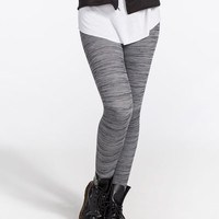 Just One Space Dye Womens Leggings Grey  In Sizes