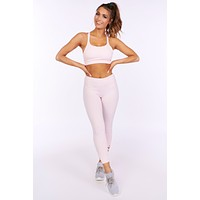 Dance Along Athletic Leggings (Light Pink)