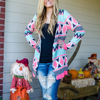 Clothing - Candy Shoppe Tribal Print Cardigan