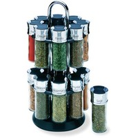Olde Thompson 16-Jar Chrome Carousel Spice Rack - Walmart.com