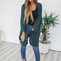 Passenger Side Cardigan - Dark Teal