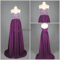 Real New Arrival Aline Sweetheart Sweep Train by Simpledress