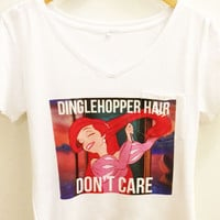 Dinglehopper Hair Don't Care Shirt  | The Little Mermaid Disney