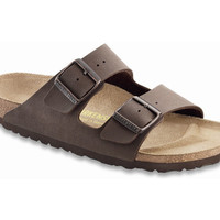 Love Birkenstock Arizona Birko-Flor-Nubuck in Mocca (Classic Footbed - Suede Lined)