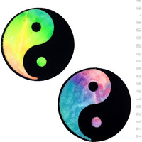 Yin Yang Pasties in Bubble Tie Dye Velvet