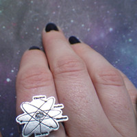 Atomic model structure ring by lotusfairy on Etsy