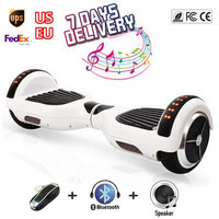 top 6.5'' inch 2 wheel self balancing scooter hoverboard bluetooth ul ox board with  light electric hoover board skate free ship
