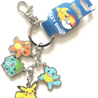Pokemon Multi Character Key Ring