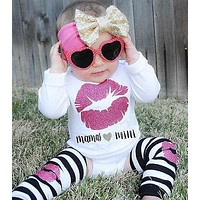 3pcs Newborn Baby Girl Infant Romper Baby boomers Jumpsuit Playsuit Leggings Clothes Outfit