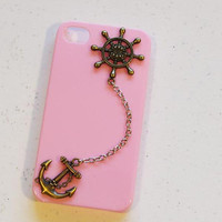 anchor rudder iphone case phone case iphone 4 by MakeDesertGreen