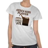 French Horn Player (Funny) Chocolate Tees from Zazzle.com