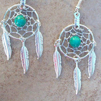 Dream catchers & Turquoise silver with three by SerenityJewelry