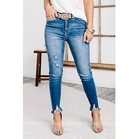 Lucy Mid Rise Skinny Jeans