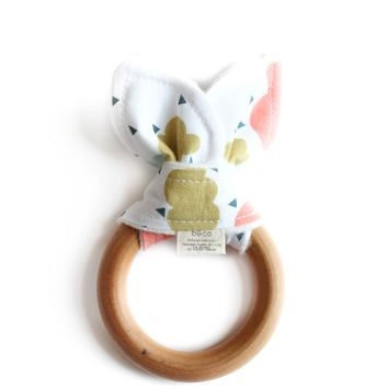 Wooden Baby Teether Colorful Rainy Day