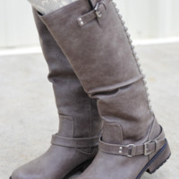 RESTOCK: Talk Of The Town Boots: Smoke