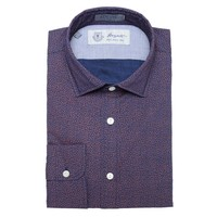 Albiate Luxe Printed Sport Shirt in Blue