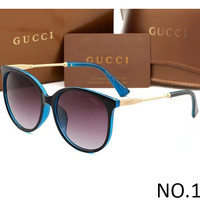 GUCCI 2018 Men's and Women's High Quality Trendy Sunglasses F-ANMYJ-BCYJ NO.1
