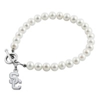 University of Southern California White Pearl Toggle Bracelet
