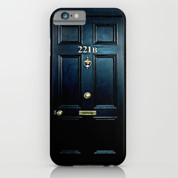 Haunted Baker st house 221b door oil painting iPhone & iPod Case by Greenlight8
