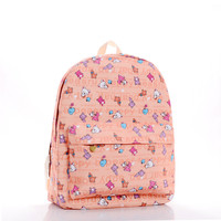 Canvas Cute Lovely Cartoons Backpack = 4887571396